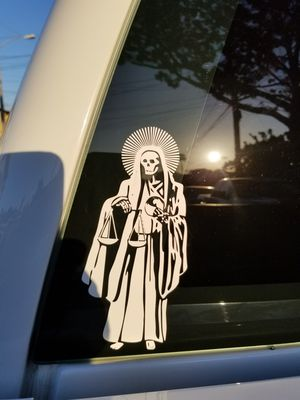 Santa Muerte Decal 8 Sticker For Sale In Inglewood Ca Offerup