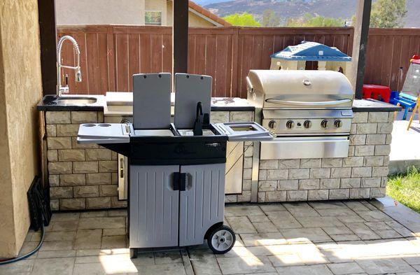 Backyard Gear Portable Sink Bbq Station