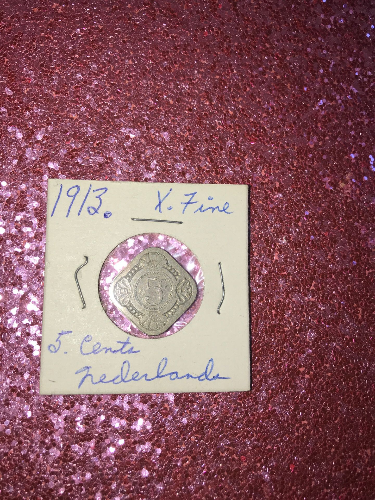 1913 5 cents Netherlands xf