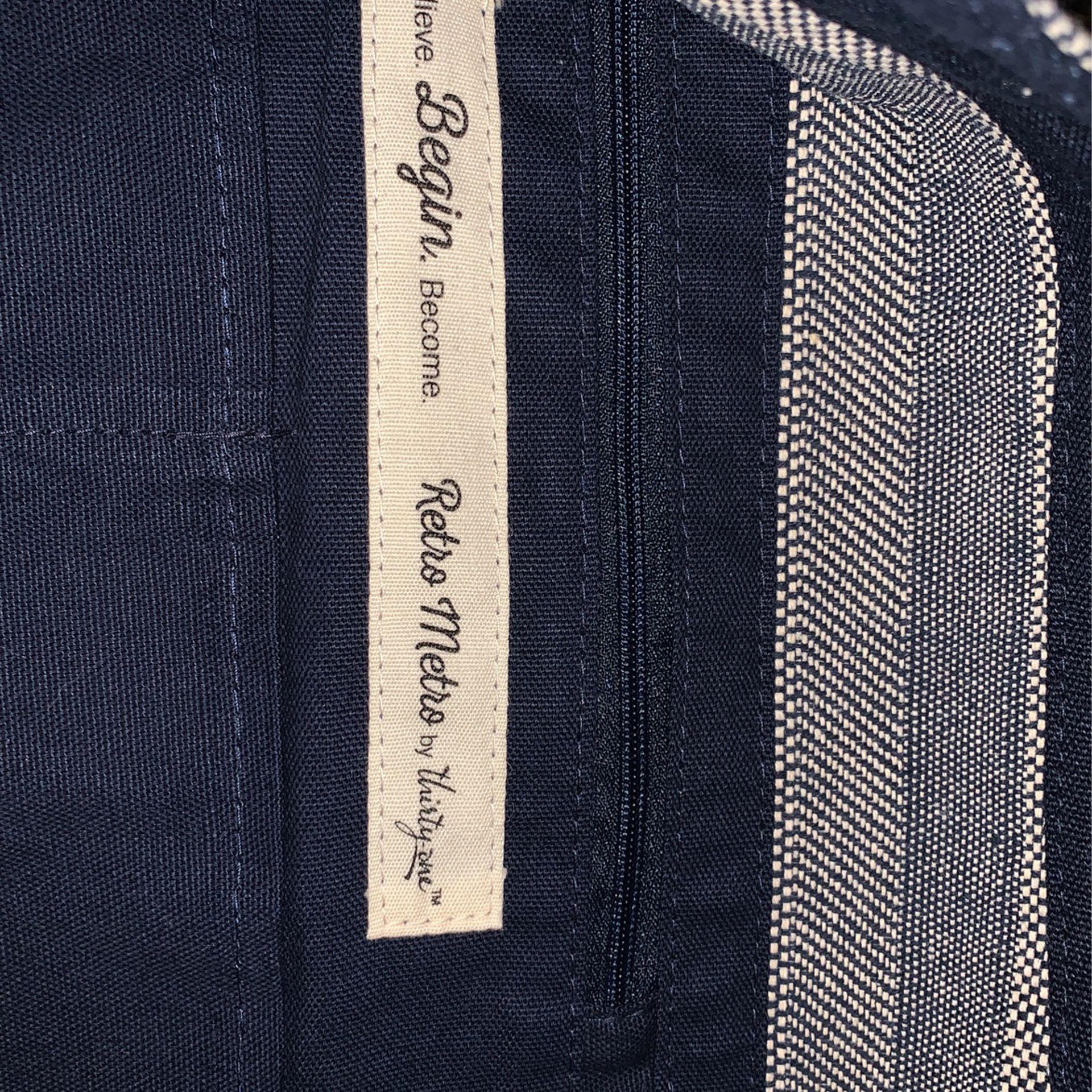 Retro Metro Hobo Bag in Woven Stripe