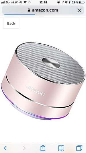 Lenrue Portable Bluetooth Speaker-A2-E Wireless Mini Outdoor Rechargeable Speakers with LED, Stereo Sound, Enhanced Bass,Built-in Mic for iPhone/IPad for Sale in Rockville, MD