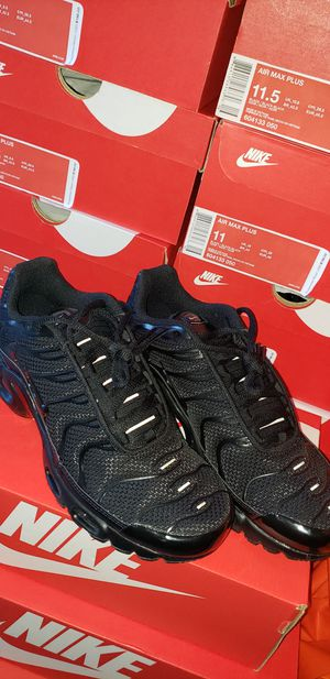 pretty nice 615e8 a7ccd New NIKE AIR MAX PLUS TN Triple Black Shoes 604133-050 95 Tuned Air for  Sale in Los Angeles, CA - OfferUp