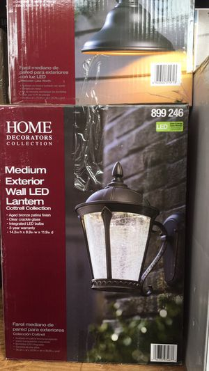 Home Decorators Collection Cottrell Aged Bronze Patina Outdoor Led Powered Wall Lantern For Sale In Las Vegas Nv Offerup