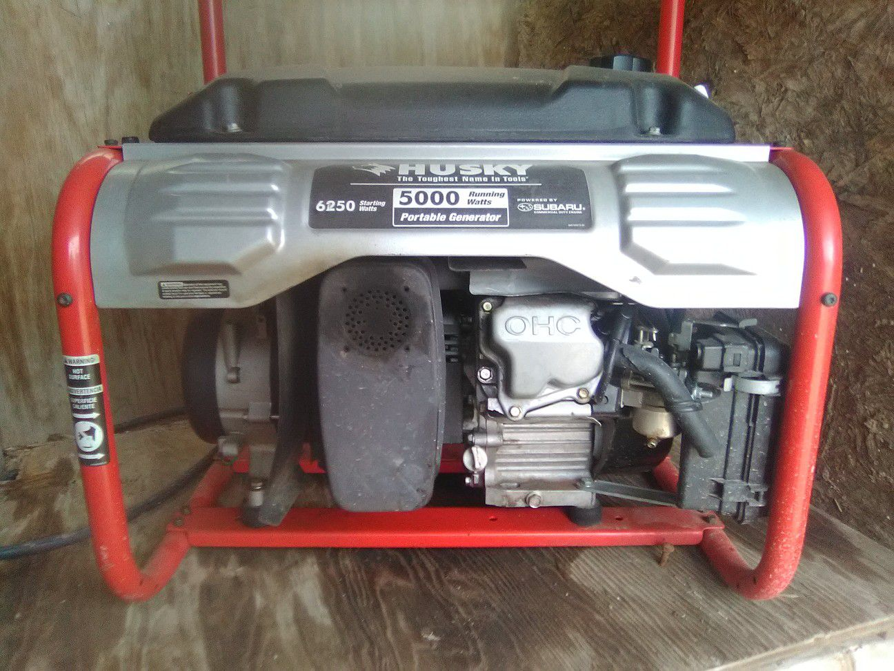 Husky generator 5000 running watts