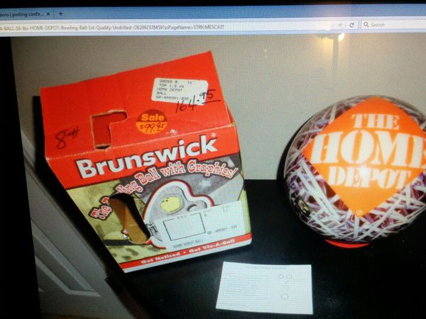 New Brunswick Viz A Ball16 Pounds Home Depot Bowling Ball Undrilled Greensboro Nc