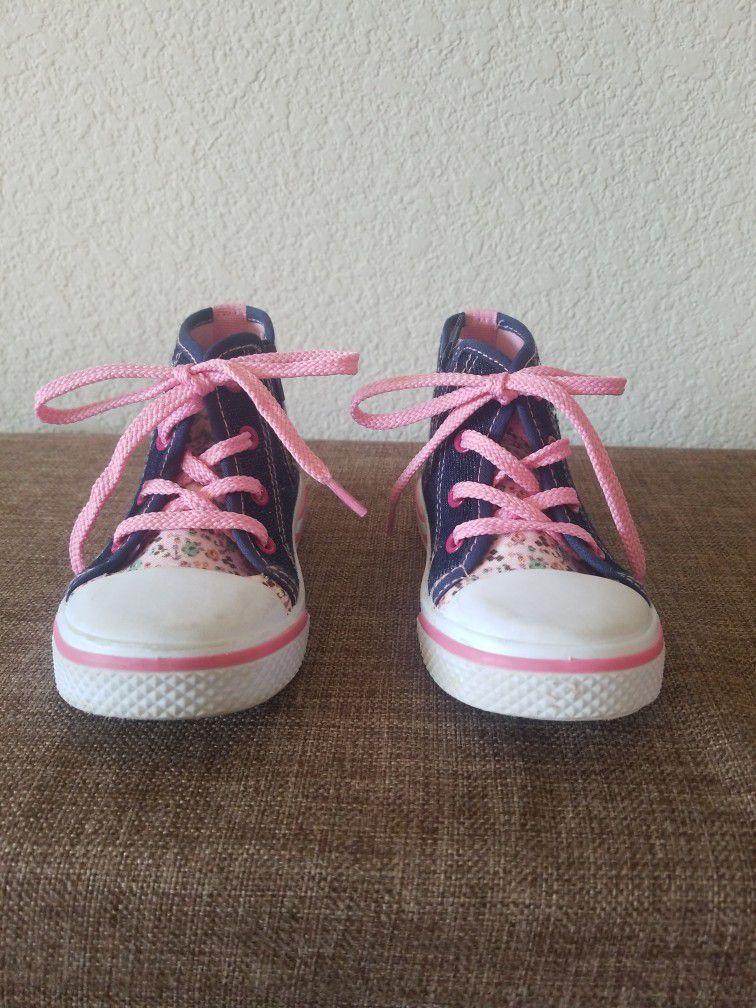 Toddler Girl High Tops Size 7