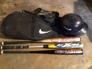 53e7b359a7d1 Easton baseball bats with Nike helmet  bag for Sale in Jacksonville