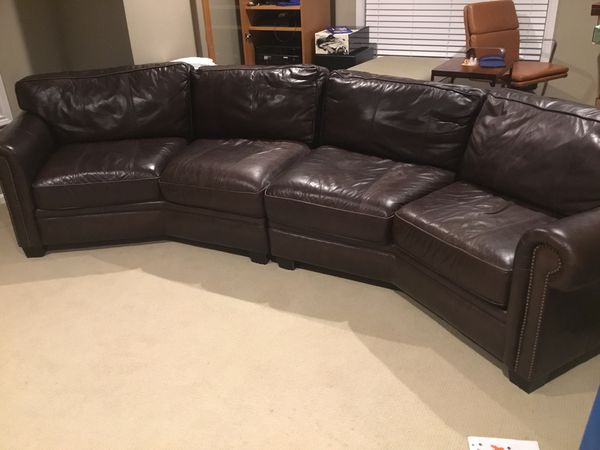 Bernhardt Dark Brown Leather Sofa for Sale in Issaquah, WA - OfferUp
