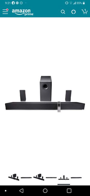 Vizio 5.1 Home Theater Sound Bar with Subwoofer and Satellite Speakers for Sale in Carpentersville, IL