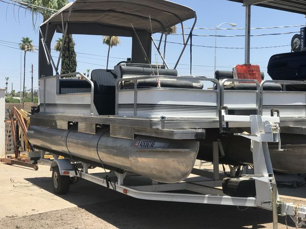 1988 Fasttrack Pontoon Boat With Trailer Boats Amp Marine