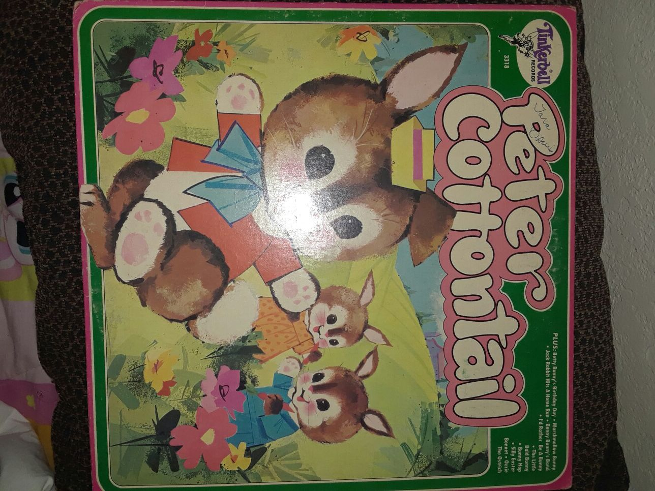 Tinker bell . peter cotton tail record