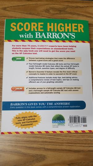 Barron S Ap Calculus 14th Edition For Sale In Anaheim Ca Offerup