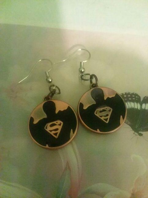 Superman earrings. W/message on back (Jewelry & Accessories) in Joliet, IL - OfferUp