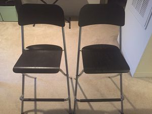 Ikea Franklin bar stools (2)- foldable for Sale in Germantown, MD