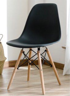 Brand new $25 each century modern leisure dining chair wood legs black dark brown gray tan white colors available