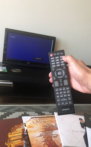 Hitachi tv with remote hdtv with DVD player for Sale in Dallas, TX