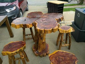 Cedar table and barstools for sale  Goodman, MO