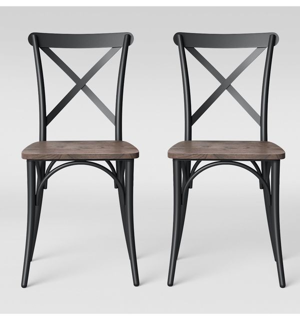 Set of 2 Malden French Bistro Dining Chair Black for Sale ...