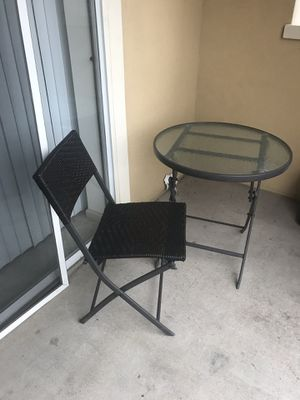 Bistro Table and Chair for Sale in Alexandria, VA