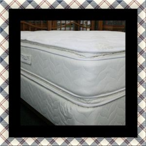 Twin mattress double pillow top with box spring for Sale in Silver Spring, MD