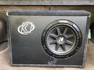 Kicker 10' slimbox subwoofer with Dual Amplifier GREAT SOUND!! for Sale in Germantown, MD