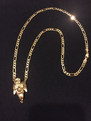 "14k gold plated figaro chain 24"" for Sale in Orlando, FL"
