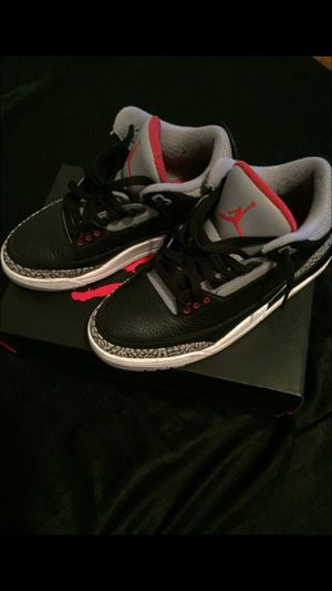 Black Cement Jordan 3's for Sale in Orlando, FL