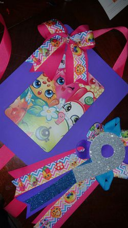 Shopkin birthday mum & bow holder Thumbnail