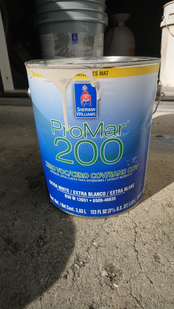 Sherwin Williams Promar 200 Flat Interior Paint For Sale