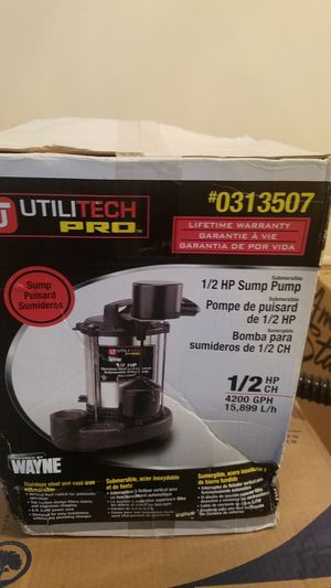 Sump Pump 1/2 HP Stainless for Sale in Darnestown, MD