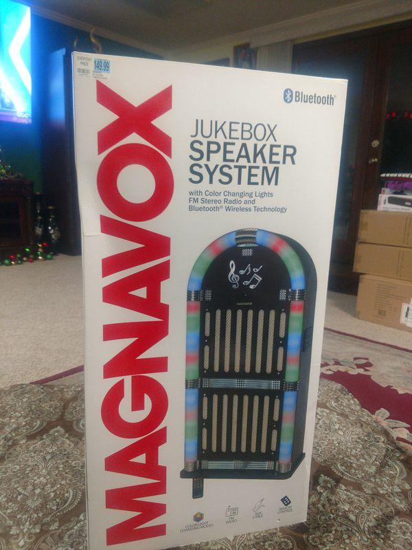 Magnavox jukebox speaker system with color changing lights FM stereo radio  Bluetooth wireless technology for Sale in BETHEL, WA - OfferUp