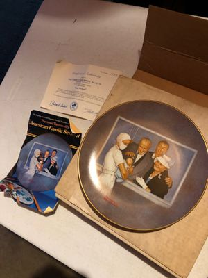 Photo Norman Rockwell Collectors Plate New Arrival numbered