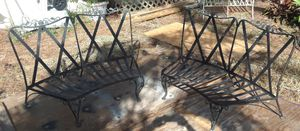 PR OF ANTIQUE IRON ROSE PATTERN BENCHES FOR RESTORATION for Sale in Naples, FL