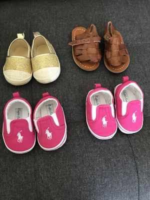 Baby girl shoes size 1 or 3-6 months for Sale in Alexandria, VA