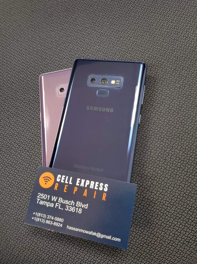 Samsung Note 9 Unlocked Like New Condition With 30 Days Warranty