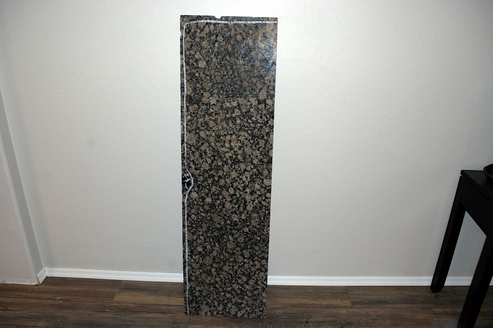 Granite Slab 57 Inches Long by 16.25 Inch Wide .85 inches thick.