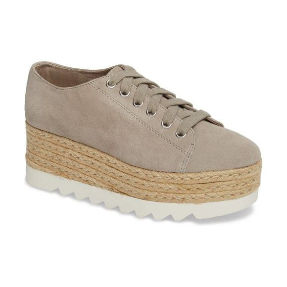 de2ed88550c Steve Madden Taupe Suede Platform Lace Up Sneakers Size 8.5 NEW with Box  for Sale in San Diego, CA - OfferUp