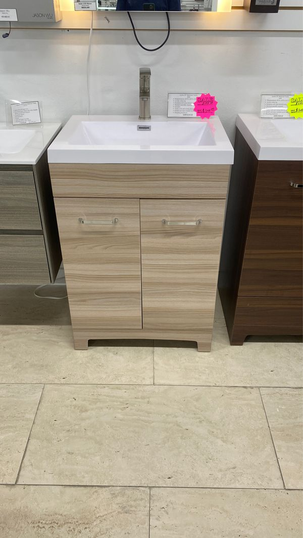 "24"" bathroom vanity cabinet and sink wood new for Sale in ..."