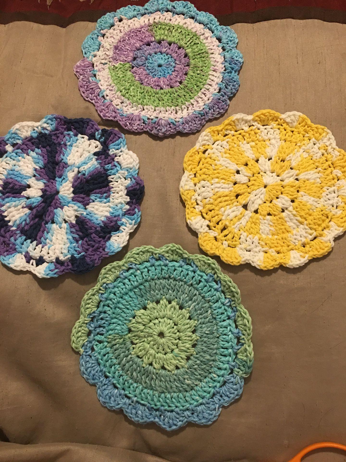 Handmade floral trivets