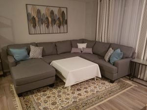 Gray sectional living room couch for Sale in Manassas, VA