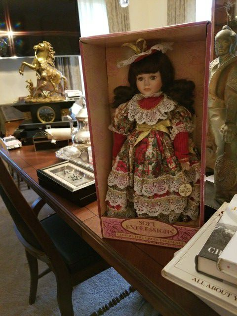 Limited Edition Christmas Porcelain Doll