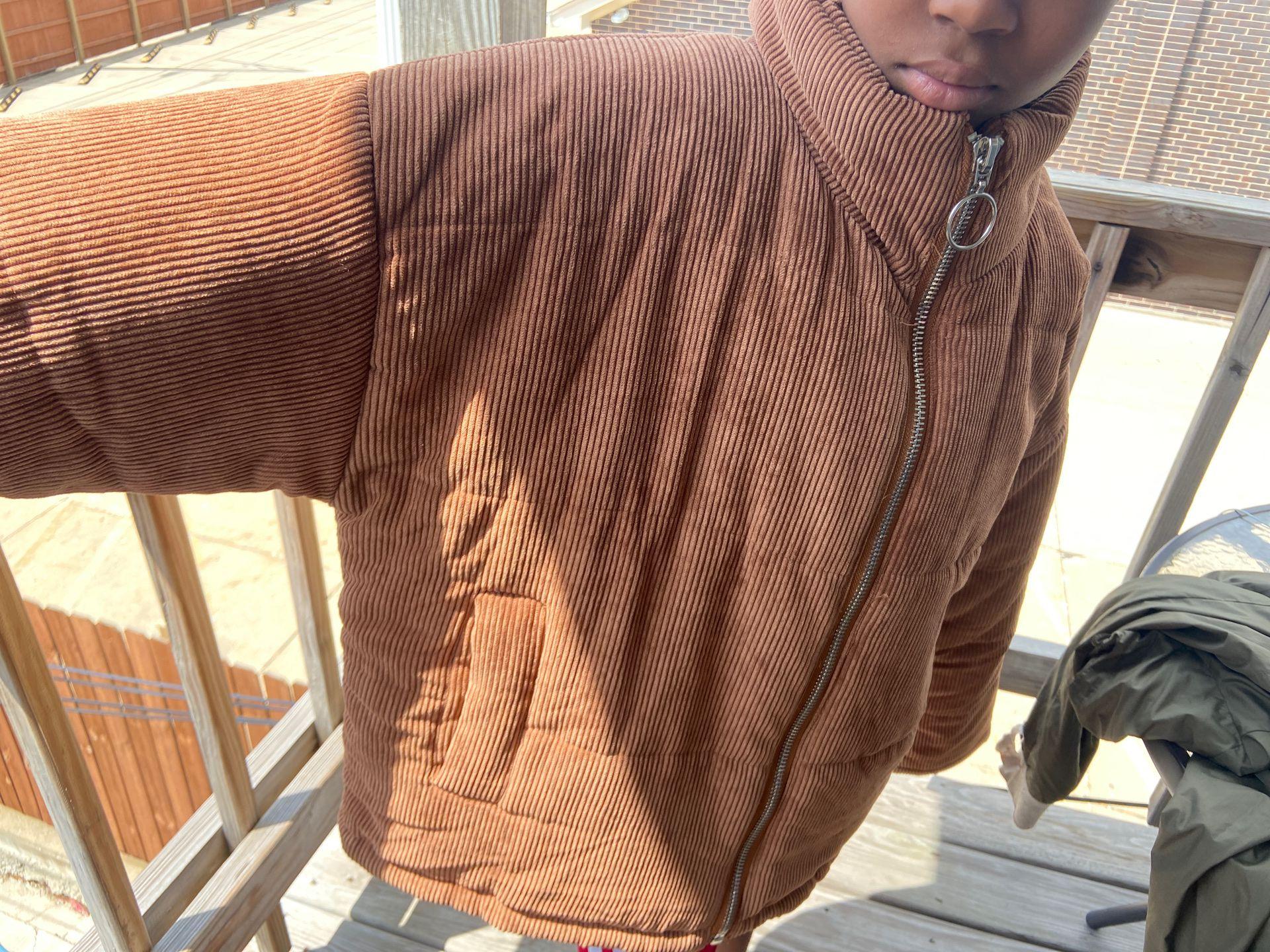 Fashion Nova Wheat Jacket.