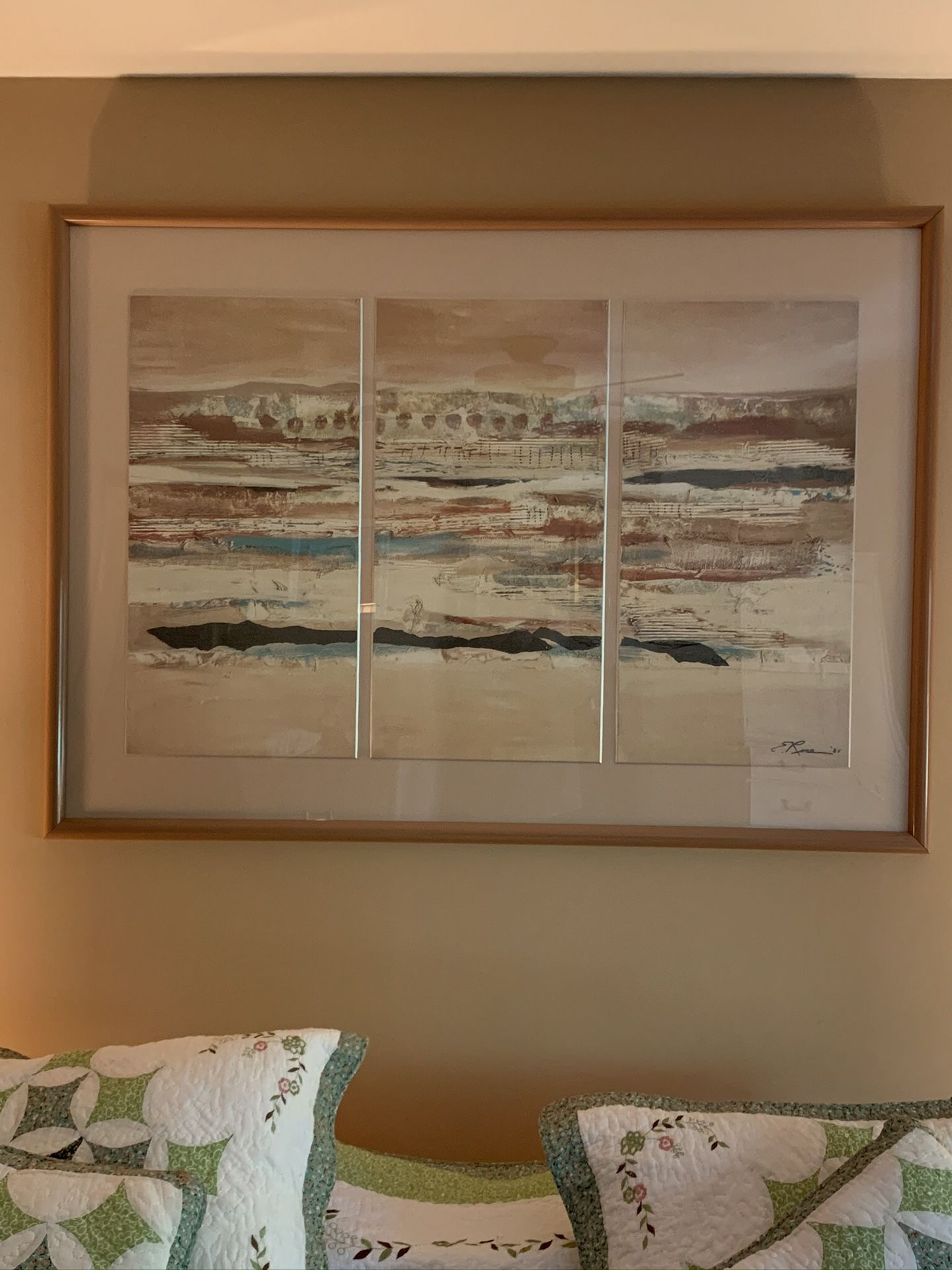 Framed and Matted Landscape Picture
