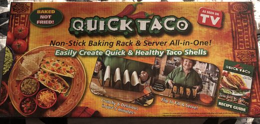 Quick Taco Baking Rack, Server, Recipe Book Assen on TV New in Box Thumbnail