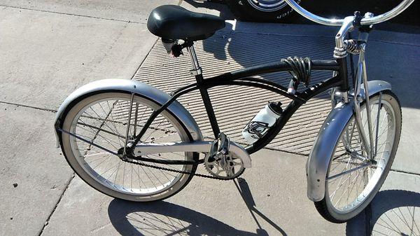 Beach Cruiser Bike Silver And Black