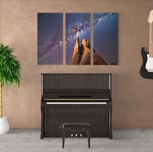 Star Galaxy Canvas Wrap 3 piece set for Sale in Riverbank, CA