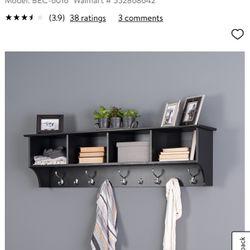 """60"""" Black Entryway Shelf Thumbnail"""
