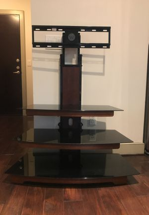 TV Stand wide glass with mount for Sale in Arlington, VA