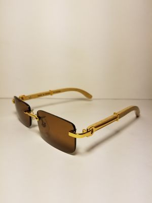Cartier C Decor Rimless Sunglasses Wood/Gold for Sale in ...