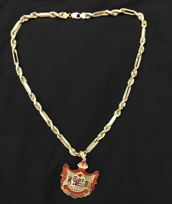 8mm 14k Milano Rope Chain Only 24inches REAL GOLD For Sale In